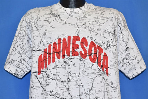 90s Minnesota Map t-shirt Extra Large