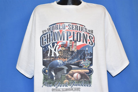 90s New York Yankees 1998 World Series Champs t-shirt XXL
