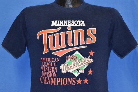 80s Minnesota Twins 1987 World Series Champs t-shirt Small