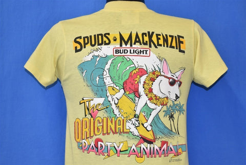 80s Spuds MacKenzie Party Animal Bud Light t-shirt Small