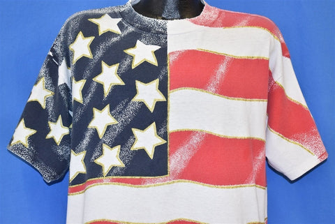 90s USA Flag All Over Print t-shirt Extra Large
