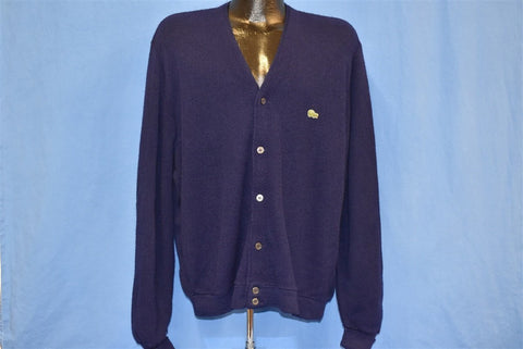 60s Izod of London Dark Blue Cardigan Sweater Large