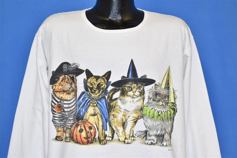 90s Cats Halloween Costumes Trick or Treat t-shirt Extra Large