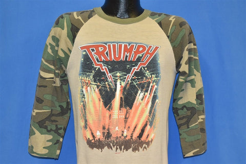 80s Triumph Camo Sleeve World Tour 1986 t-shirt Medium