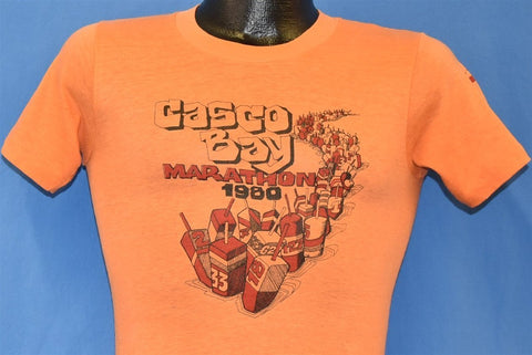 80s Casco Bay Marathon Portland Maine t-shirt Extra Small