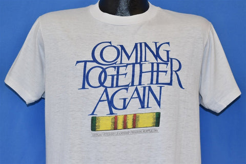 80s Coming Together Again Vietnam Veterans t-shirt Large
