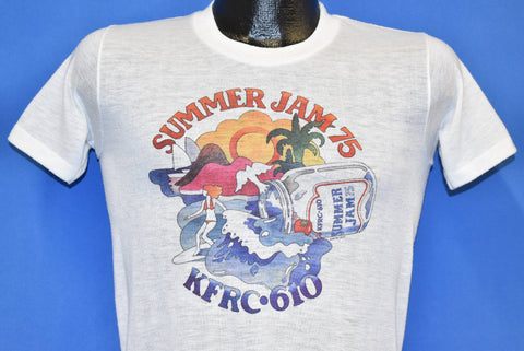 70s Summer Jam 75 KFRC 610 San Francisco Music Fest t-shirt Small