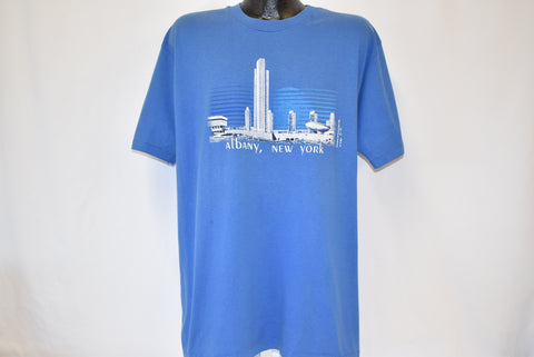 80s Albany New York Skyline t-shirt Large
