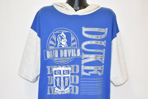 90s Duke Blue Devils University Hooded t-shirt Extra Large