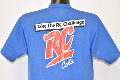80s RC Cola Royal Crown Soda Take the Challenge t-shirt Large