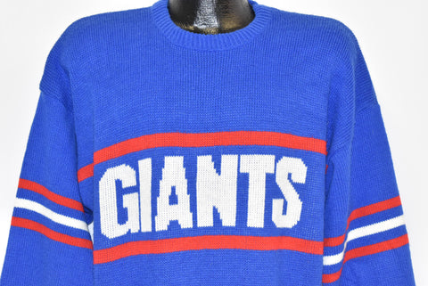 80s New York Giants Cliff Engle Pullover Sweater Large