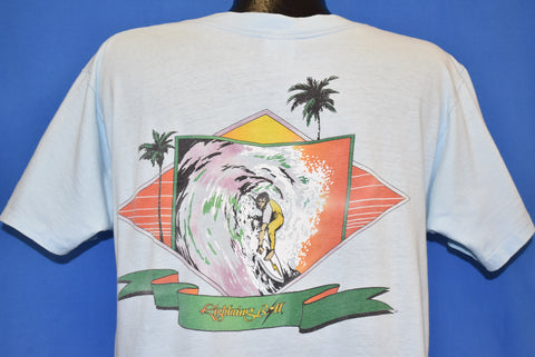 80s Lightning Bolt Sunset Surf f t-shirt Large