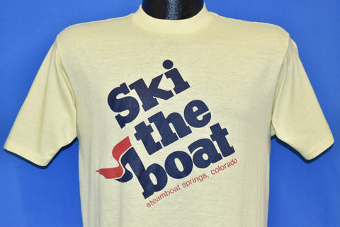 80s Ski the Boat Steamboat Springs Colorado t-shirt Medium