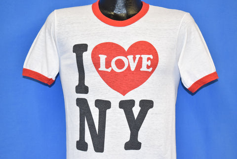 70s I Love New York Ringer Tourist t-shirt Small