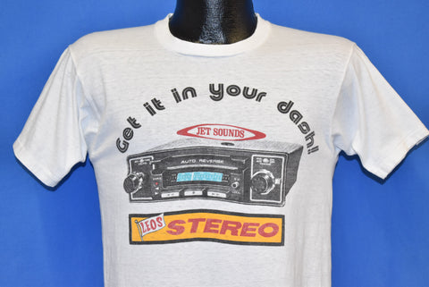 80s Leo Stereo Get it in Your Dash Jet Sounds Tape Deck t-shirt Small