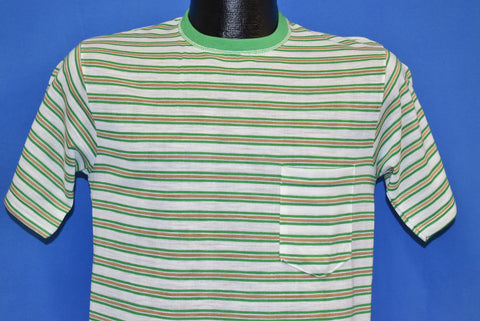 70s JCPenney Striped Pocket Tee t-shirt Small