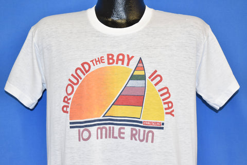70s Around the Bay in May Run Sunset t-shirt Medium