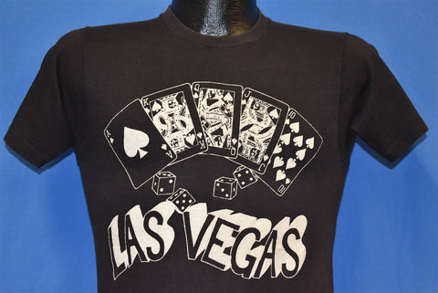 70s Las Vegas Royal Flush Casino Poker t-shirt Extra Small
