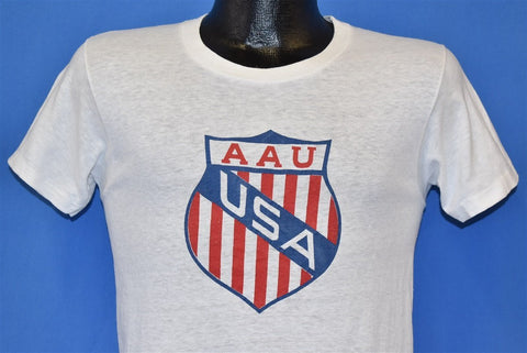 60s AAU Amateur Athletic Union Shield t-shirt Small