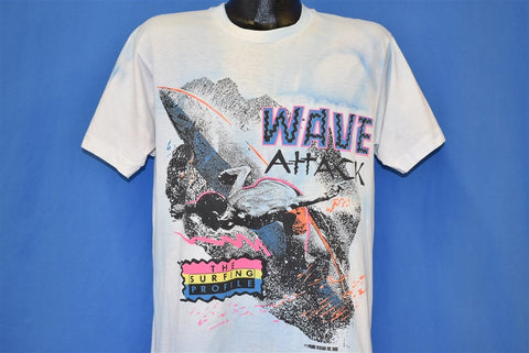 90s Wave Attack Surfing Profile Neon t-shirt Large