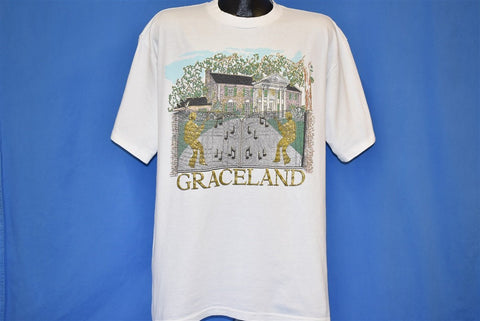 90s Graceland Mansion Elvis Presley Glitter t-shirt Extra Large