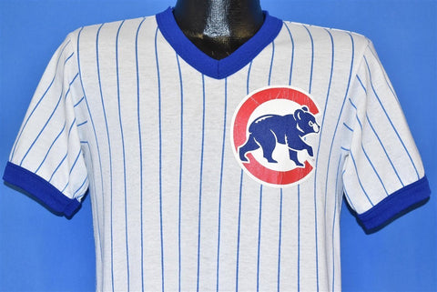 80s Chicago Cubs Pinstripe Ringer Jersey t-shirt Small