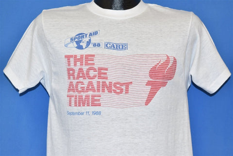 80s Sport Aid 1988 Race Against Time Charity Run t-shirt Small