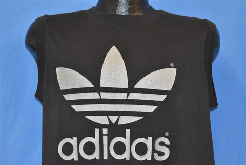 80s Adidas Trefoil Logo Muscle t-shirt Large
