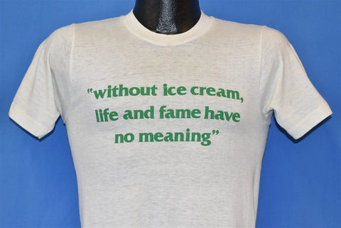 80s Without Ice Cream Funny t-shirt Small