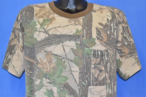 80s Realtree Camouflage Pocket Tee t-shirt Large