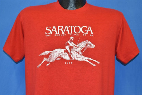 80s Saratoga Horse Racing Track t-shirt Large