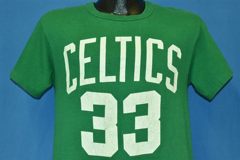 90s Boston Celtics Larry Bird 33 NBA Basketball t-shirt Medium