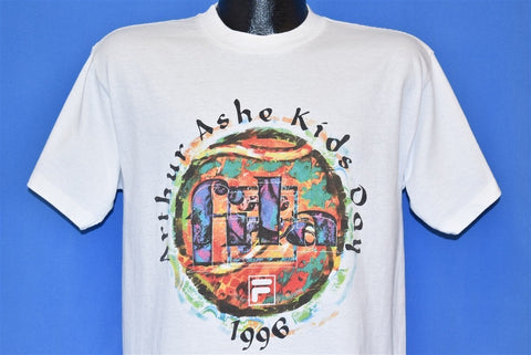 90s FILA Arthur Ashe Kids Day Tennis t-shirt Small