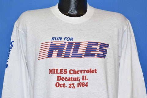 80s Run for Miles Decatur Illinois t-shirt Large