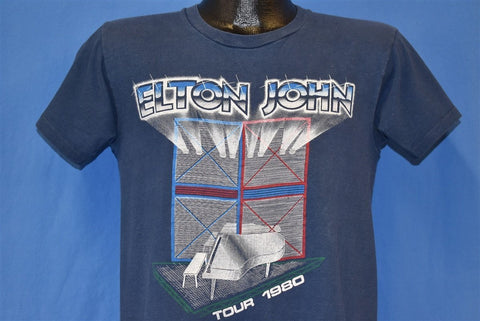 80s Elton John World Tour 1980 Concert t-shirt Medium
