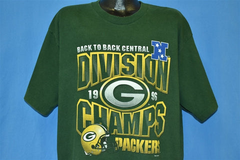 90s Green Bay Packers Division Champs 1996 t-shirt Extra Large