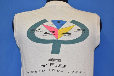 80s Yes Band World Tour 1984 Rock Concert t-shirt Medium