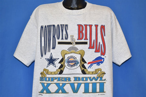 90s Dallas Cowboys Super Bowl XXVIII Buffalo Bills t-shirt XXL
