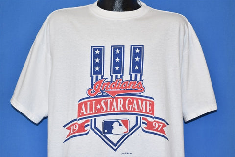 90s All Star Game 1997 MLB Cleveland Indians t-shirt Extra Large