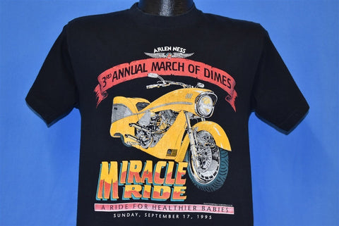 90s March of Dimes Motorcycle t-shirt Medium