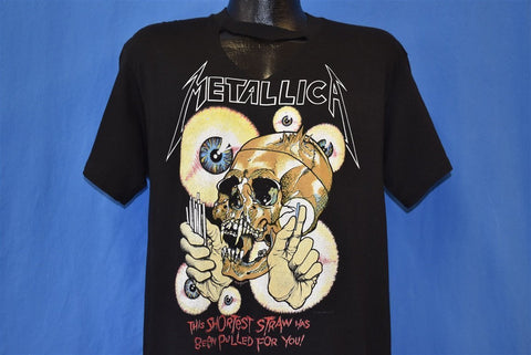 80s Metallica Pushead Shortest Straw Pulled Metal t-shirt Large