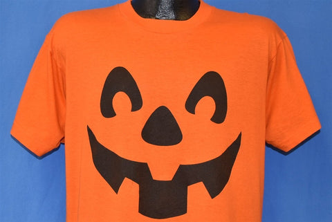 80s Jack O Lantern Halloween Pumpkin Costume t-shirt Large