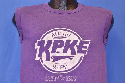 80s Denver KPKE 96 FM Radio Station Muscle t-shirt Medium