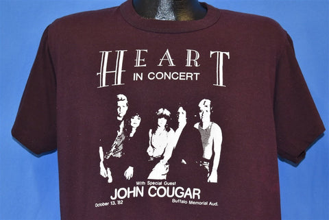 80s Heart John Cougar Concert 1982 Rock t-shirt Large