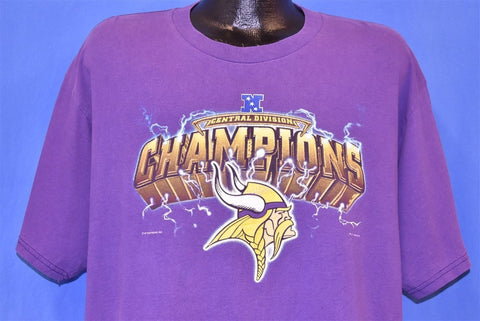 90s Minnesota Vikings Central Division Champs t-shirt Extra Large