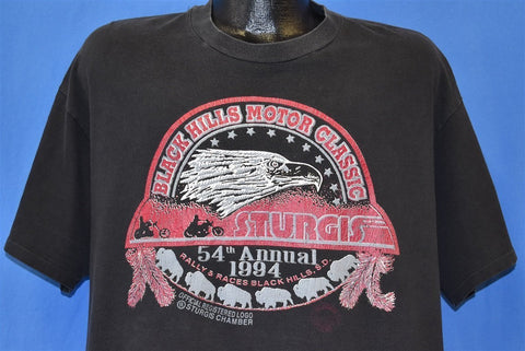 90s Sturgis Motorcycle Rally Black Hills t-shirt Extra Large