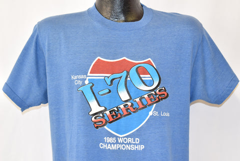80s Kansas City Royals I70 World Series 1985 Baseball t-shirt Large