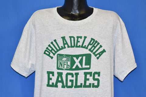 80s Philadelphia Eagles NFL Logo Kelly Green Gray t-shirt Large