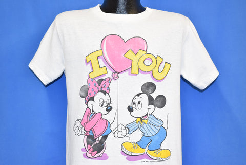 80s Mickey Minnie Mouse I Love You t-shirt Medium