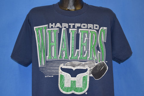 90s Hartford Whalers NHL t-shirt Large